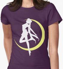 Sailor Moon logo clean Women's Fitted T-Shirt