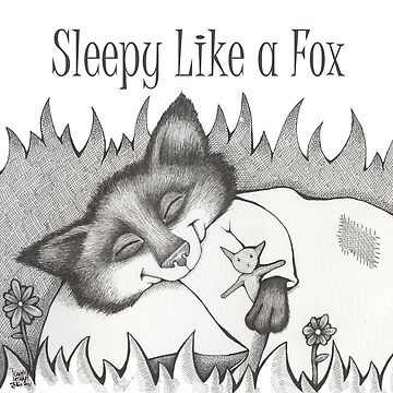 Sleepy Like a Fox Sleepover Tote Bag Illustration by Jennifer Latham Robinson  by DitchFrame
