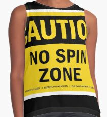 """NO SPIN ZONE"" SIGN Contrast Tank"