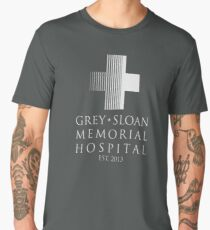 Grey Sloan Memorial Hospital Plaque Men's Premium T-Shirt