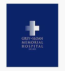 Grey Sloan Memorial Hospital Plaque Photographic Print