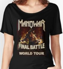 manowar - the impressed upon me begs the mythology of Women's Relaxed Fit T-Shirt