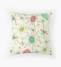 Atomic 50s Throw Pillow