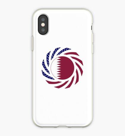 Qatari American Multinational Patriot Flag Series iPhone Case