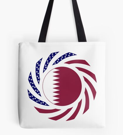 Qatari American Multinational Patriot Flag Series Tote Bag