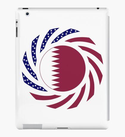 Qatari American Multinational Patriot Flag Series iPad Case/Skin