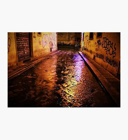 Back Streets at Night Photographic Print