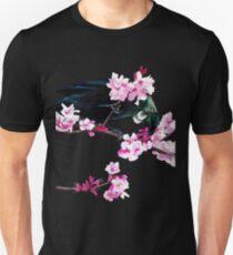 Tui Feeding on Cherry Blossoms Slim Fit T-Shirt