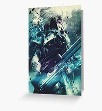 Metal Gear Rising - Raiden  Greeting Card
