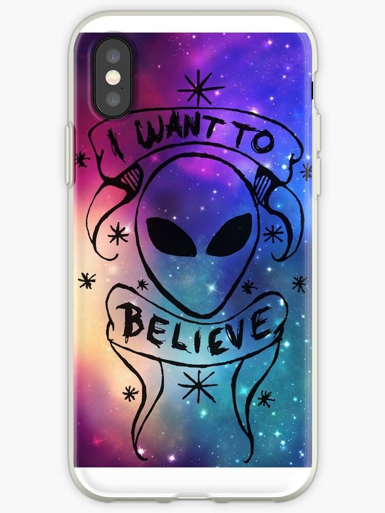 I want to believe - galaxy by Prettayboyart