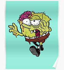 Sponge Bob Square Pants Zombie  Poster