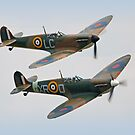 Twin Spitfires by Colin  Williams Photography