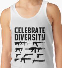 CELEBRATE DIVERSITY Pro Second Amendment Gun Rights Shirt Tank Top