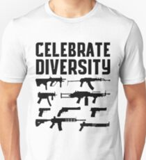 CELEBRATE DIVERSITY Pro Second Amendment Gun Rights Shirt Unisex T-Shirt