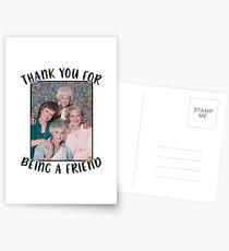 Goldene Mädchen inspiriert Danke, ein Freund zu sein Postkarten