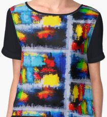 Abstract City Painting Women's Chiffon Top