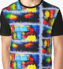 Abstract City Painting Graphic T-Shirt