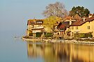 Nernier - Houses along Geneva lake by Patrick Morand