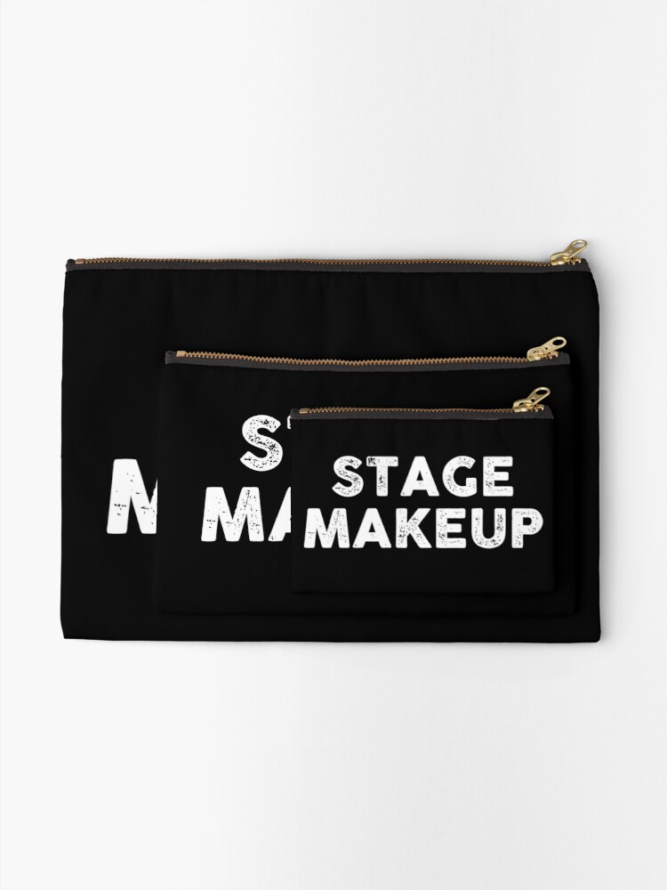 Alternate view of stage makeup Zipper Pouch