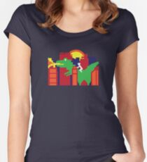 Godzilla ... Japan Monster in the City!  I Love Japan T-Shirt  Women's Fitted Scoop T-Shirt
