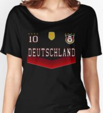 Germany Deutschland Soccer Design with number 10 Women's Relaxed Fit T-Shirt