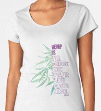 Hemp is Women's Premium T-Shirt