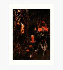 Halloween at the florists Art Print