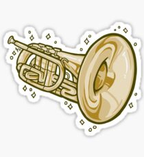Mellophone!! (Gold) Sticker