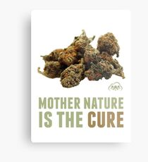 Mother Nature is the Cure Metal Print