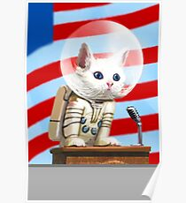 "Fallout 4 ""Mr Pebbles"" Space Cat Poster"