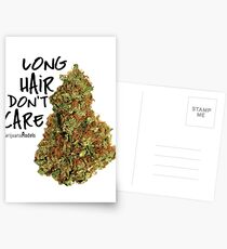 Long Hair Don't Care Postcards