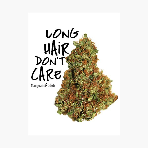 Long Hair Don't Care Photographic Print