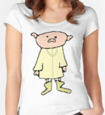 Pig in a Rain Coat Women's Fitted Scoop T-Shirt