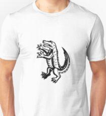 Alligator Standing Scraperboard  Unisex T-Shirt