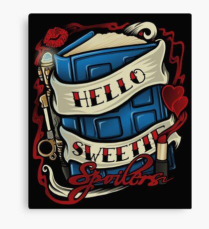 Hello Sweetie (pillow) Canvas Print