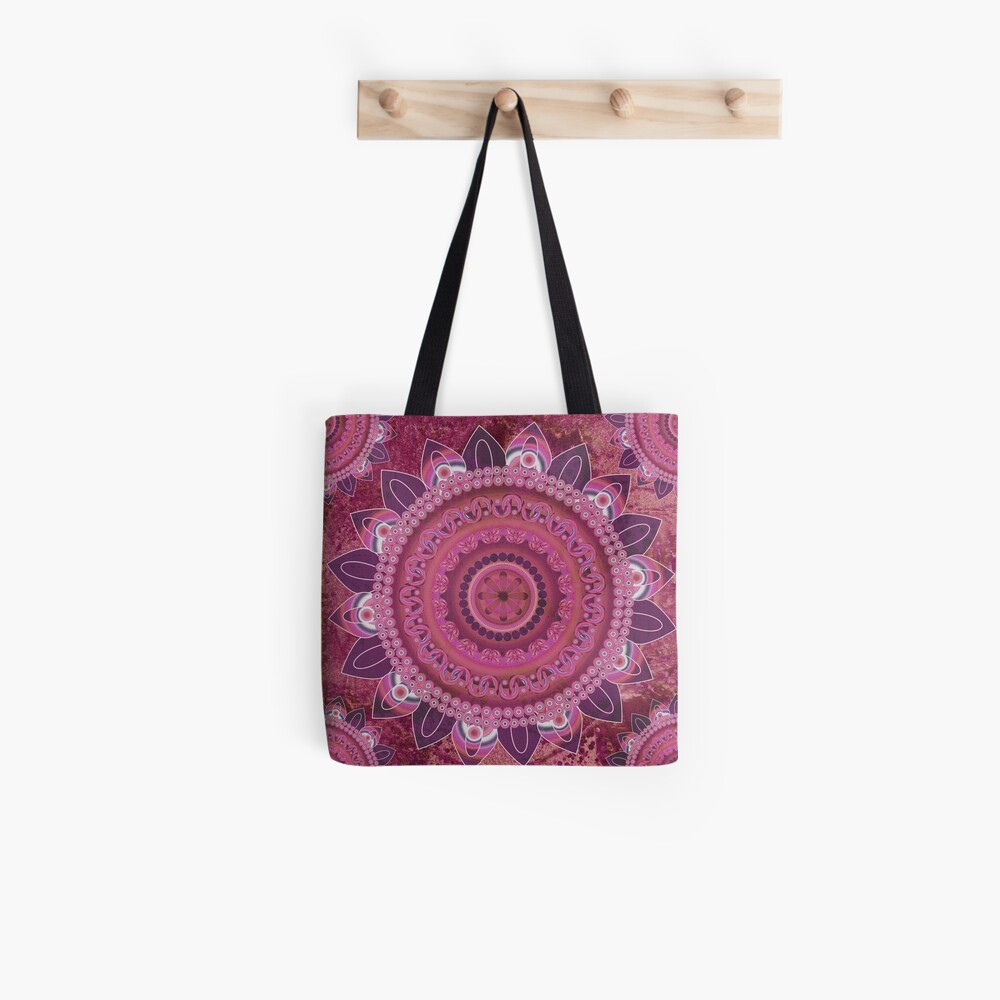 Rose Sea Mandala Tote Bag