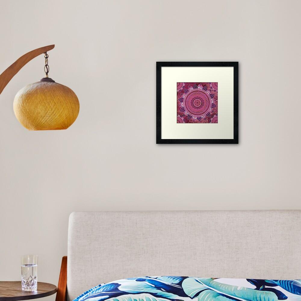 Rose Sea Mandala Framed Art Print