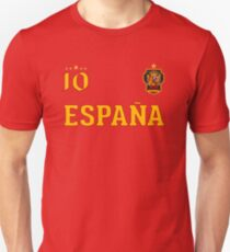 Spain Espana Soccer Design with number 10 Unisex T-Shirt