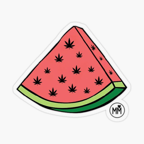 Weedmelon Transparent Sticker