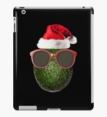 Funny Vegan Christmas Avocado Santa Hat Gift Ideas iPad Case/Skin