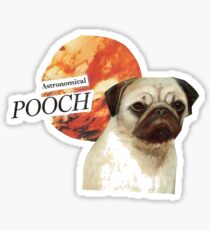 Astronomical Pooch Pug Sticker Sticker