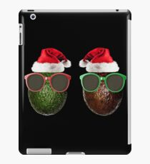 Funny Vegan Christmas Avocados Santa Hat Gift Idea iPad Case/Skin