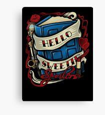 Hello Sweetie (sticker) Canvas Print
