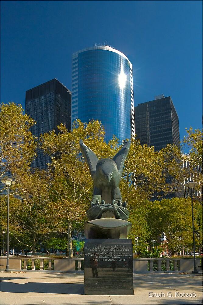 17th street and war memorial by Erwin G. Kotzab