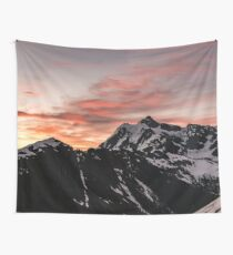 Mount Shuksan Pink Sunrise Wall Tapestry