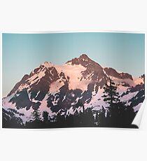 Mount Shuksan Pastel Morning  Poster