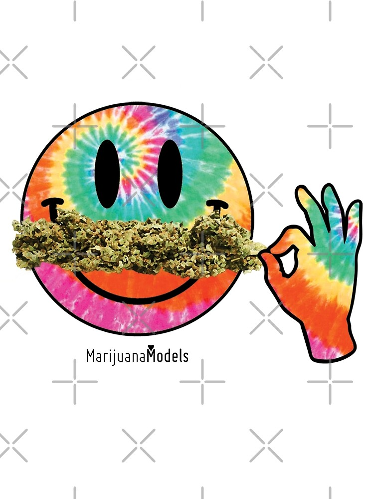 Smiley Weedstache by KUSH COMMON