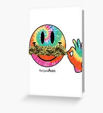 Smiley Weedstache Greeting Card