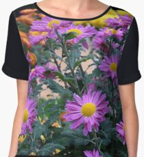 Chrysanthemums Women's Chiffon Top