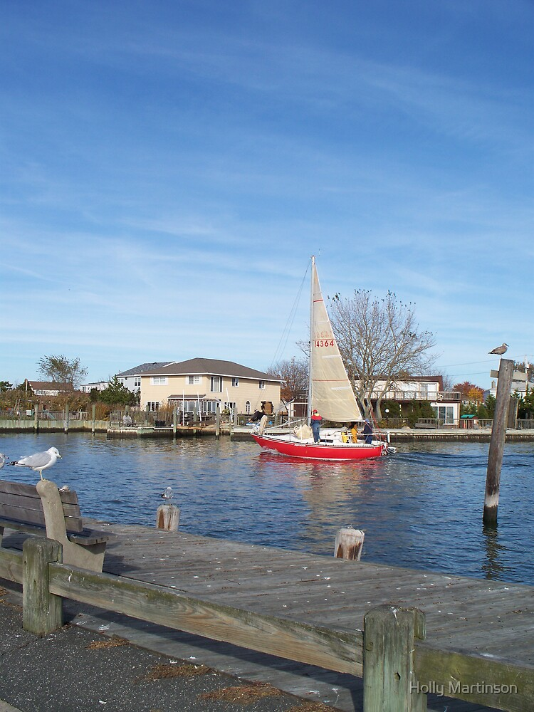 Red Sailboat by Holly Martinson